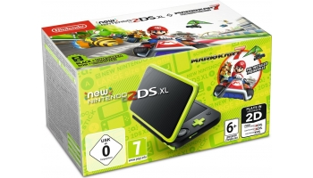 N3DS: New Nintendo 2DS XL (черный + лаймовый) + Mario Kart 7